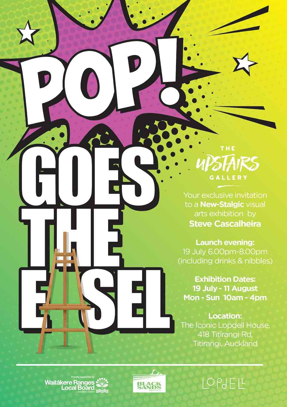 Pop Goes the Easel - Upstairs Gallery - Titirangi
